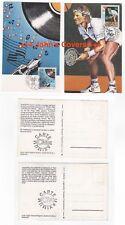 1990 YUGOSLAVIA 2 x Maxi Postcards ATP TENNIS TOUR & PJESMU EVROVIZIJE Belgrade