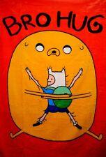 "Adventure Time High Pile Twin Blanket Throw 60""X80"" -Bro Hug"