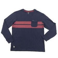 NEW US Polo Assn Pocket Tee Size M Medium Long Sleeve Color Block Frocket