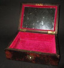 Ancienne boite à bijoux ou couture en bois antique jewellery box