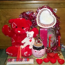 Valentine's Day Love Lot - Conversation Heart Lights, Plush Bear, Heart Candles