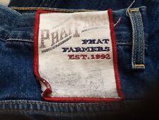 VTG 1992 Phat Farm 30/22 30x22 Lg Wide Leg Jeans w/ Altered Darted Waist & Cuffs