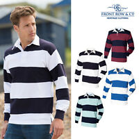 Front Row Sewn Stripe Long Sleeve Rugby Shirt (FR008) - Sport Leisure Wear