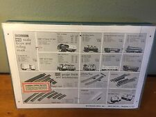 RARE ADVERTISING Vintage BACHMANN HO Train Case + engine caboose 2 cars pwr sply