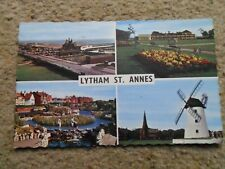 .REAL PHOTO POSTCARD.MULTIVIEW WITH 4 VIEWS OF LYTHAM ST. ANNES.POSTED