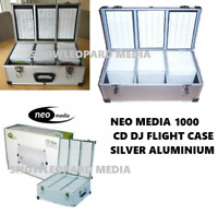 1000 Neo DJ Aluminium Flight Carry Case Box Numberd Sleeve CD Storage Silver New
