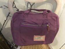 Noa Noa zip top laptop pink bag with canvas straps front zip pocket