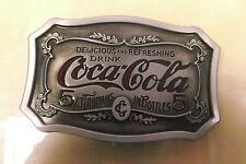COCA COLA COKE RETRO VINTAGE LOOK ENAMELLED BELT BUCKLE (takes a 4cm wide belt)