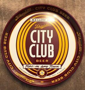 SCHMIDT'S CITY CLUB BEER MELLOW DRY TRAY ST PAUL MINNESOTA JACOB