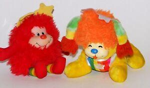 Vintage Rainbow Brite Plush Lot Dog & Red Sprite
