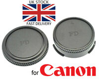 NEW Body & Rear Lens Cap Set for Canon FD Mount SLR Film Camera / Lens UK Seller