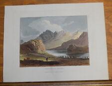1821 Print, Aquatint Tour of English Lakes///ENNERDALE WATER