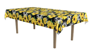 """SUNFLOWER TABLECLOTH DECORATION BIRTHDAY PARTY FOLDING TABLE COVER 54"""" x 108"""""""
