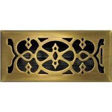 Antique Brass Victorian Floor Vent 150x350mm Neck