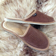 Womens Soft Suede Leather Slip On Slippers Size 3 4 5 6 7 8  Mules Flats UK