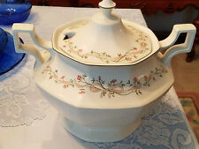 Johnson Bros Soup Tureen White Porcelain With Lid Vintage Made In England