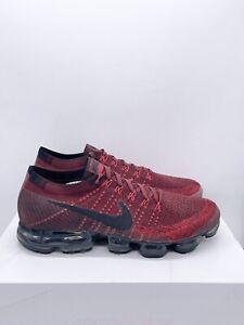 RARE Nike Air Vapormax Flyknit 'Dark Team Red' Running 849558-601 Mens Size 12