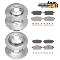 Front+Rear OE Disc Brake Rotors And Ceramic Pads For Verano Chevy Cruze Volt