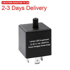 US Location 3Pin CF13 LED Flasher Relay Fix for Hyper Flash Adjustable Blinker