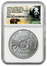 2016 China 50g Silver Panda NGC PF69 UC (Exclusive ANA Panda Label) SKU42300