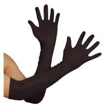 1920s Black Elbow Length Gloves