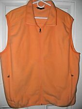 LAND'S END POLYESTER LIGHT WEIGHT VEST  Apricot, Easy care  Size XL  NWOT