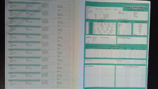 Advanced Dungeons & Dragons AD&D 9264 Character Record Sheet, Spell Sheet & card
