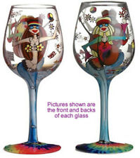 Hippie Gal Lady Party Wine Glass