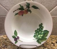 """4~Christopher Stuart Fruit Finale Rimmed Soup Pasta Bowl  H L 400  9 1/4"""""""