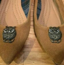 Brooks Brothers Women's Flats Size 6 Shoes Owls Chestnut Brown Suede