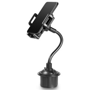 Universal Gooseneck Rotatable Cradle Cup Holder Car Mount For GPS iPhone Google