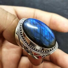 Vintage Women Men Turquoise Ring Jewelry Wedding Engagement Party Size6-10 Charm