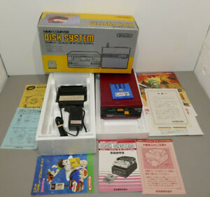 Nintendo FDS boite & notice 100% working / New Belt - Disk Drive System boxed