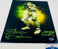 Steve Downes signed Master Chief 11X14 Metallic photo HALO BAS M62126