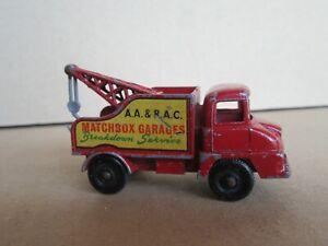 638Q 1960'S Matchbox 13c England Thames Trader Wreck Truck Tow Truck