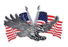 Emblème adhésif autocollant Aigle USA métal eagle GF moto custom sticker 3D