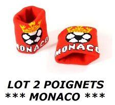 2 BRACELETS MONACO serre poignet éponge drapeau sport football jogging tennis