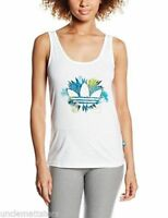 Canotta Top T-shit Fitness Palestra Yoga Donna Adidas Floral  trefoil Bianco  44
