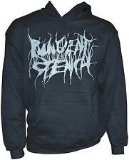 PUNGENT STENCH - Grey-Logo - Black-Gildan-Hooded-Sweatshirt - L / Large - 164154