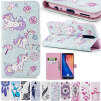 Unicorn 3D Flip Leather Wallet Phone Case Cover For iPhone Samsung OnePlus 5T