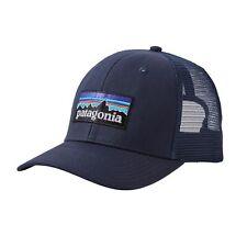 f1562decfaa0c Patagonia P-6 Logo Trucker Hat Navy Blue Baseball Cap