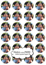 24 x 4cm Custom Round any Photo/Logo Cupcake Edible Image Toppers