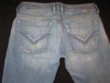Diesel Mens Jeans Zathan Low Bootcut Distressed Wash 84R  Sz 32 X 28