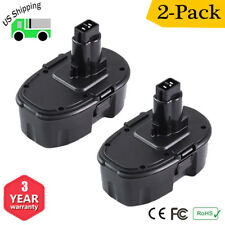 2 x 18 Volt Battery Pack For DeWALT DC9096-2 18V XRP Extended Capacity Battery