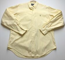 Ralph Lauren Men's 16 36 37 Solid Yellow Button Down Yarmouth Shirt Long Sleeves