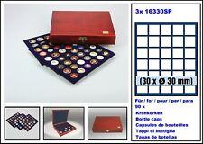 Look 15898 Wood Cassette Elegance Kroni 3 Blue Tableaux for 90 Bottle Capsules