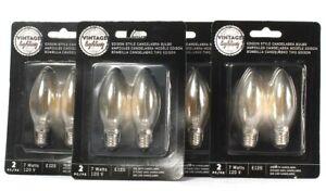 4 Packs Vintage Lighting 7W 120V E12S Edison Style Candelabra 2 Count Bulbs