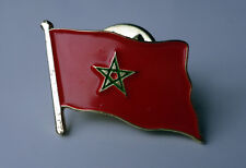 ZP239 National Country Flag Pin Badge Morocco Moroccan