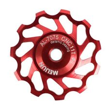 FREE UK P+P - MEIJUN 11 T  CERAMIC BEARING CNC ALU JOCKEY WHEEL - RED