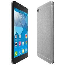 Skinomi Brushed Aluminum Skin+Clear Screen Protector for Alcatel A50 (